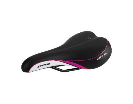 Sedlo CTM Elite, čierna/pink