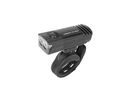 Osvetlenie predné CTM, 2 LED, 50 Lm, USB, čierne
