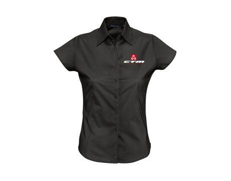 Dámska košeľa kr.rukáv,čierna, M