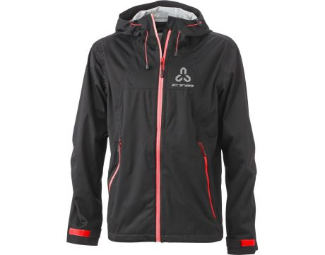 Bunda pánska CTM, softshell, XL