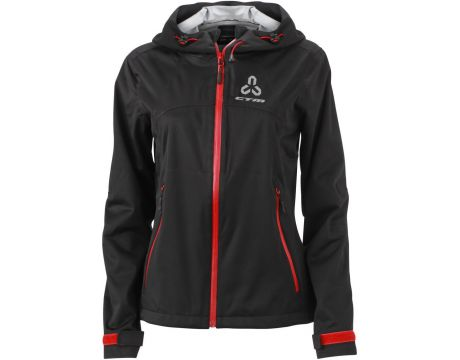 Bunda dámska CTM, softshell,XL