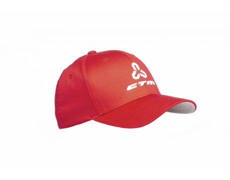 Šiltovka CTM, Flexfit, červená, S/M