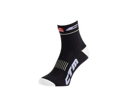 Ponožky CTM XC, čierna/biela, 34-37