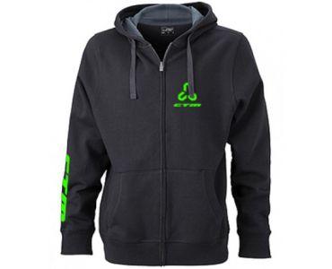 CTM Mikina CTM, dámska, zelené logo, XL