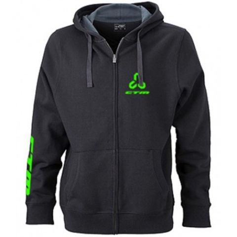Mikina CTM, dámska, zelené logo, XL