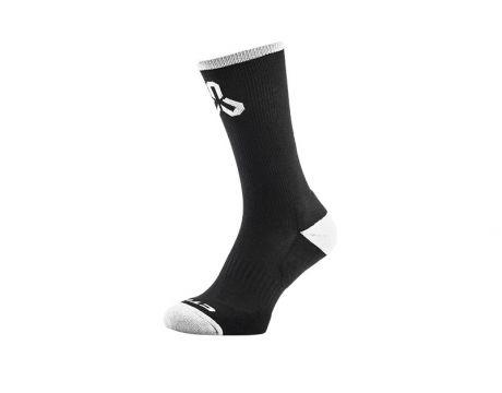 Ponožky CTM Layer, čierne/biele logo, 43-47