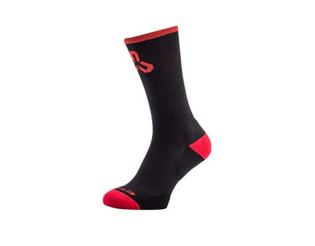 Ponožky CTM Layer, čierne/červené logo,38-42