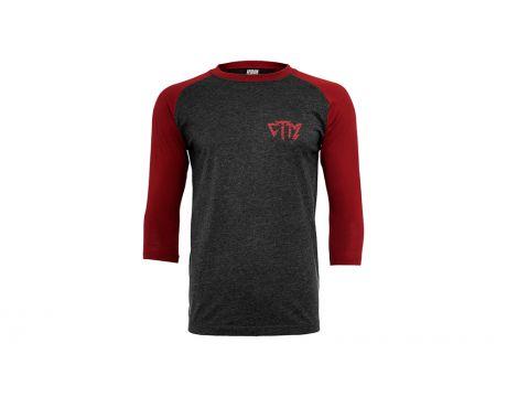 Tričko CTM dámske čierna/tehlová, XS