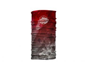 CTM Šatka CTM WRAP, Marble badge červená