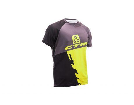 Dres CTM 2017 Enduro line, krátky rukáv, čierna/žltá XL