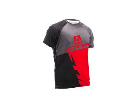 Dres CTM 2017 Enduro line, krátky rukáv, čierna/červená XL