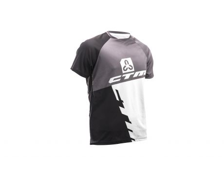 Dres CTM 2017 Enduro line, krátky rukáv, čierna/biela XL