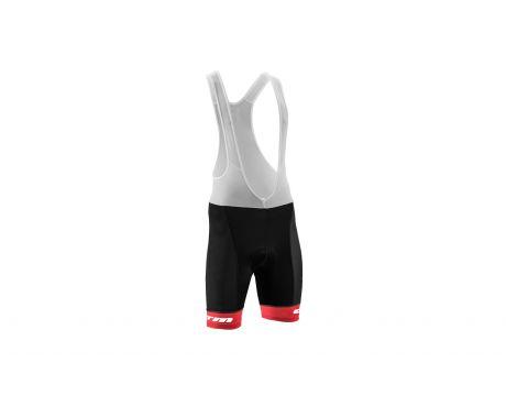Nohavice CTM 2017 RACE line, s trakmi, červený lem XL
