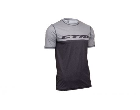 Dres CTM TECH TEE, šedá/šedá, XL