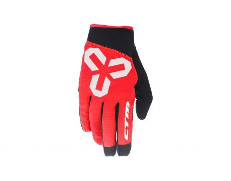 Rukavice CTM VICE, celoprstové, červené, XL