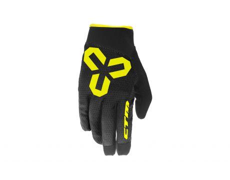 Rukavice CTM VICE, celoprstové, žlté, XL
