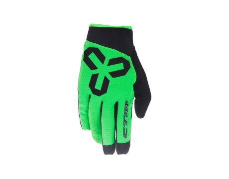 Rukavice CTM VICE, celoprstové, zelené, XL