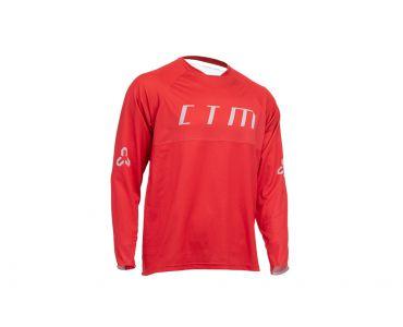 CTM Dres CTM Rovay L/S 20, dlhý rukáv,červená, M