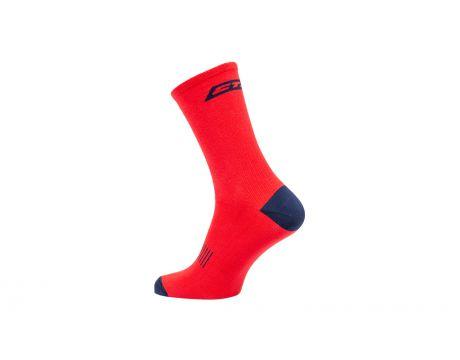 Ponožky CTM Base 16, červené, 43-47