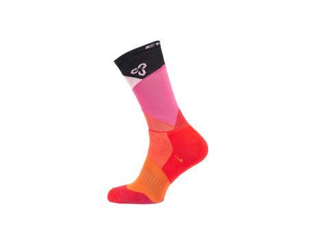 Ponožky CTM Spektrum 20, červená, 43-47