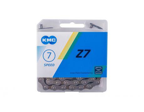 Reťaz KMC, Z7,šedá/hnedá, 114, 7-kolo
