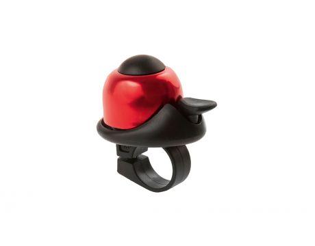 Zvonček mini BELL, na karte, červený