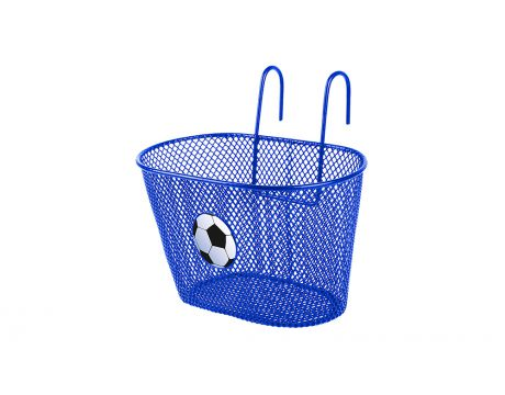 Košík drôtenný na riadidlá, modrý, detský