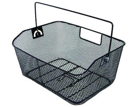 Košík drôtený na nosič, husté oká, čierny