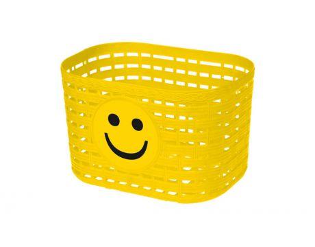 Košík plastový na riadidlá, detský, žltý