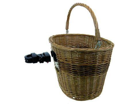 Košík prútený s Clip-on držiakom na riadidlá
