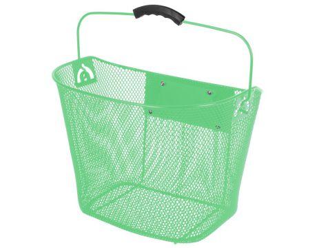 Košík na riadidlá, drôtený,Clip-On, zelený