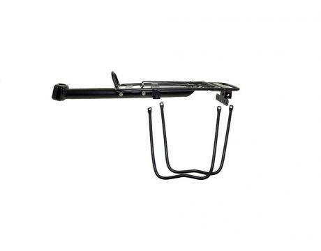 Nosič SCREW, hliníkový na sedlovku, čierny