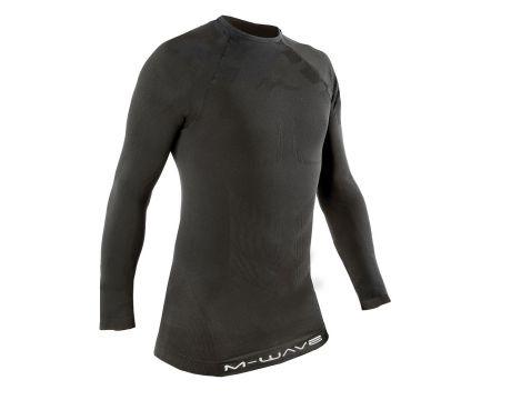 Tričko M-Wave, dl.rukáv, čierne, M/L