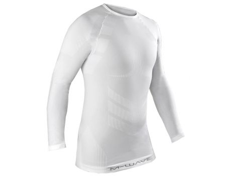 Tričko M-Wave, dl.rukáv, biele,M/L
