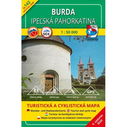 Mapa Burda – Ipeľská pahorkatina