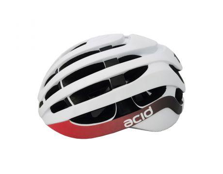 Cyklistická prilba ACID, M / L (58-61cm), white-black-red, shine