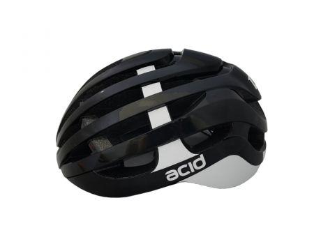 Cyklistická prilba ACID, M / L (58-61cm), black-white, shine