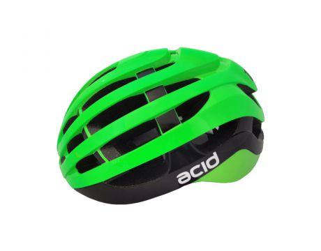 Cyklistická prilba ACID, M / L (58-61cm), green-black, shine