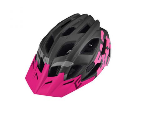Prilba Extend FACTOR  dark grey- rose pink M / L (58-61cm) matná