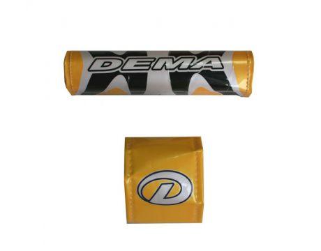 Chran.bandaz na BMX kormidlo žlto / čierno / biela DEMA