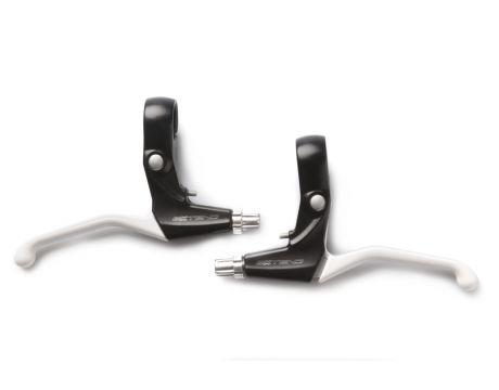 Brzdové páčky AL 3-prsté čierno-biele EXTEND
