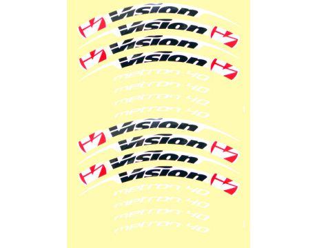 Nálepky na ráfiky VISION Metron 40 Tubular