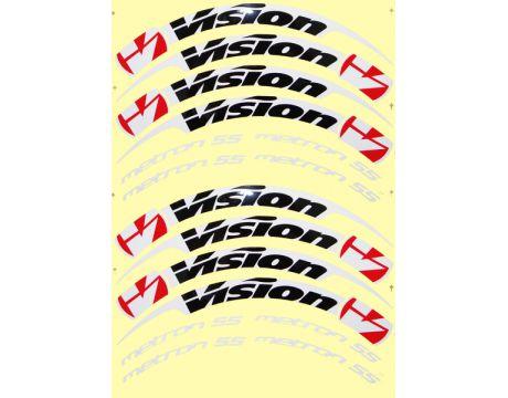 Nálepky na ráfiky VISION Metron 55 Clincher