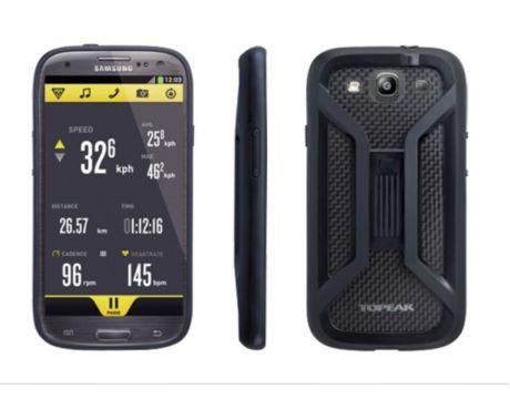 Puzdro s držiakom Topeak RIDE CASE (Samsung Galaxy S3) čierne