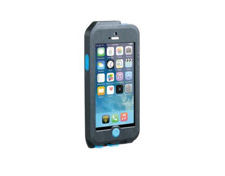 Puzdro  Topeak WEATHERPROOF RIDE CASE (iPhone 5) čierno-modré (s držiakom)