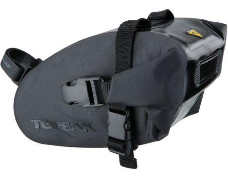 Taška podsedlová Topeak WEDGE DRY BAG  Medium čierna, popruh