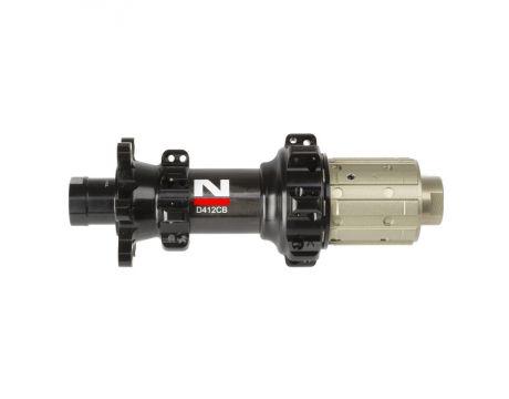 Náboj Novatec D412CB-X12-11S, zadný, 24-dierový, čierny (N-logo)