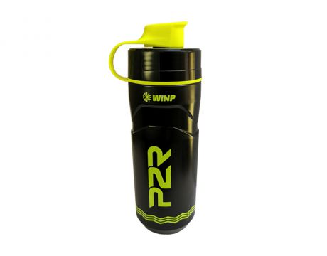 Termo fľaša P2R TERMICA 600 ml, black-lime