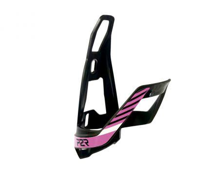 Košík na fľašu P2R HUGG, black-pink