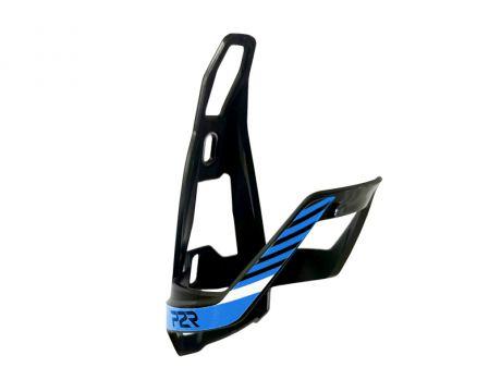 Košík na fľašu P2R HUGG, black-sky blue